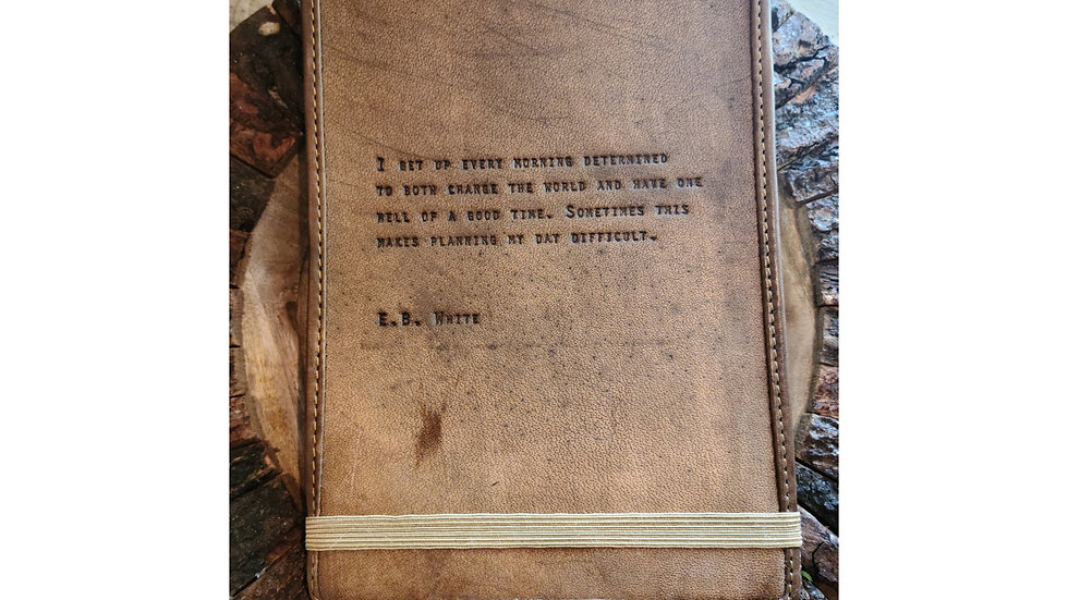 Leather Journal ~ E.B. White
