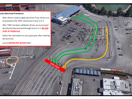 Reminder | Husky Terminal Gate Notice - Unlock Container @ TWIC Checkpoint ONLY