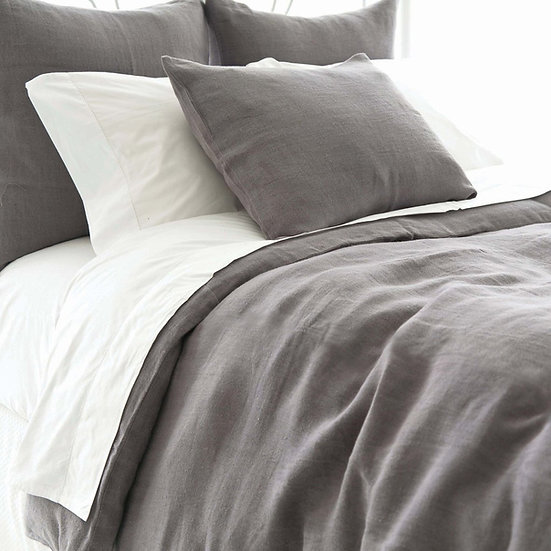 Stone Washed Linen - Shale