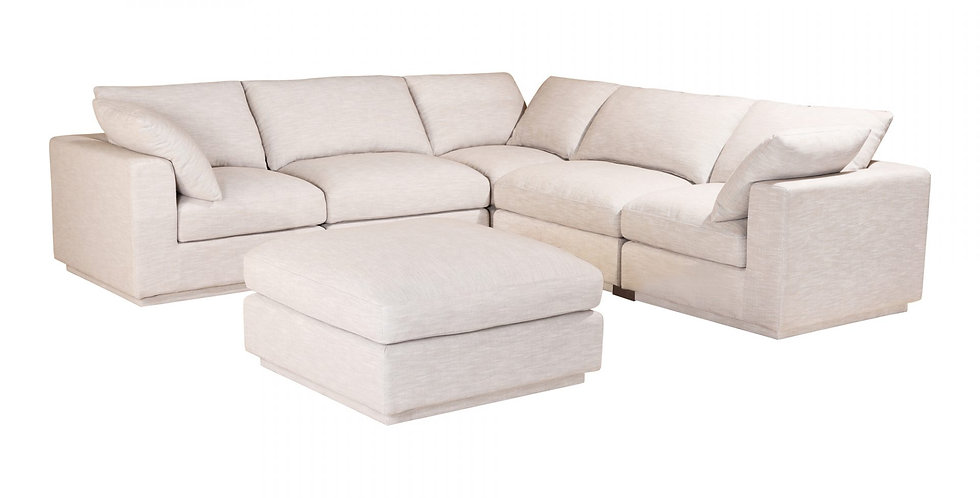 Justin - 5 places & ottoman
