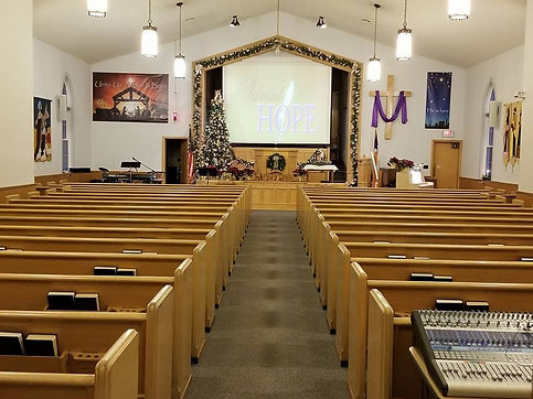 Our sanctuary decorations change throughout the year