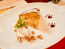 Caramel nuts Cake  w/Whip Cream