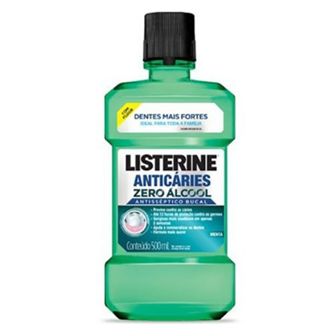Antisséptico Bucal Listerine Anticáries Zero Álcool 250ml