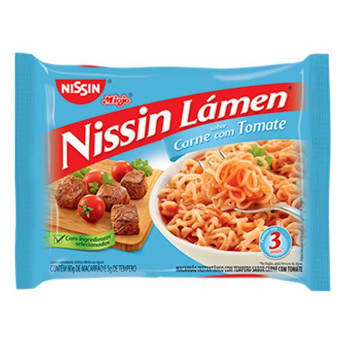 Macarrão Instantâneo NISSIN Lámen Carne com Tomate 85g