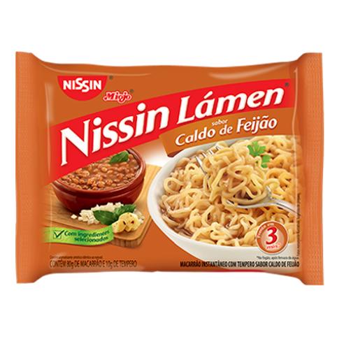 Macarrão Instantâneo NISSIN Lámen Caldo de Feijão 89g