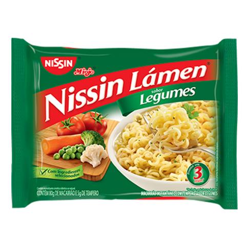Macarrão Instantâneo NISSIN Lámen de Legumes 85g