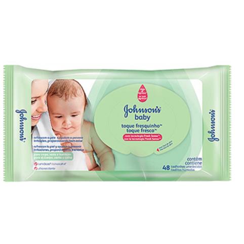 Lenço Umedecido Johnson´s Baby Toque Fresquinho 48 Unidades