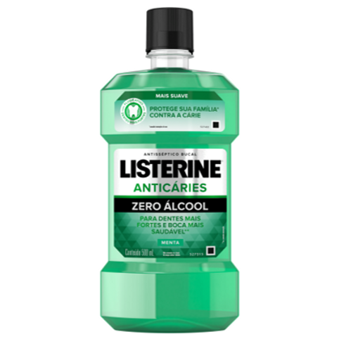 Antisséptico Bucal Listerine Anticáries Zero Álcool 500ml