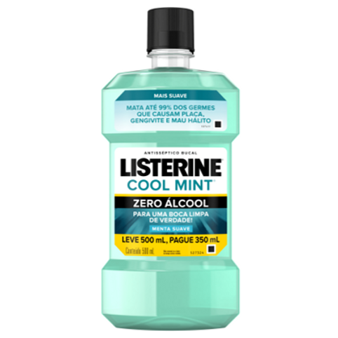 Antisséptico Bucal Listerine Cool Mint ZERO 500ml