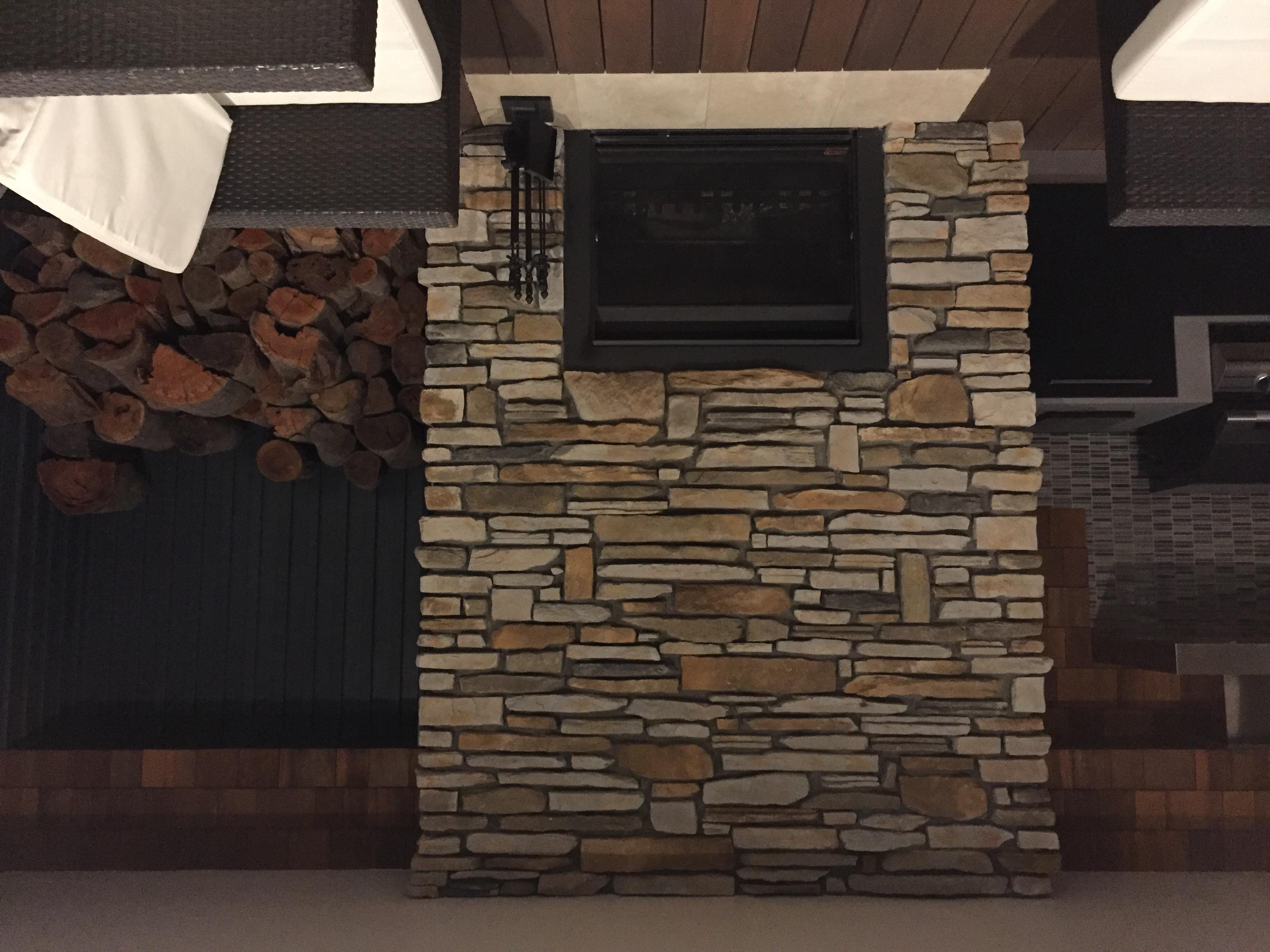 Southern ledgestone Aspen Fireplace 2