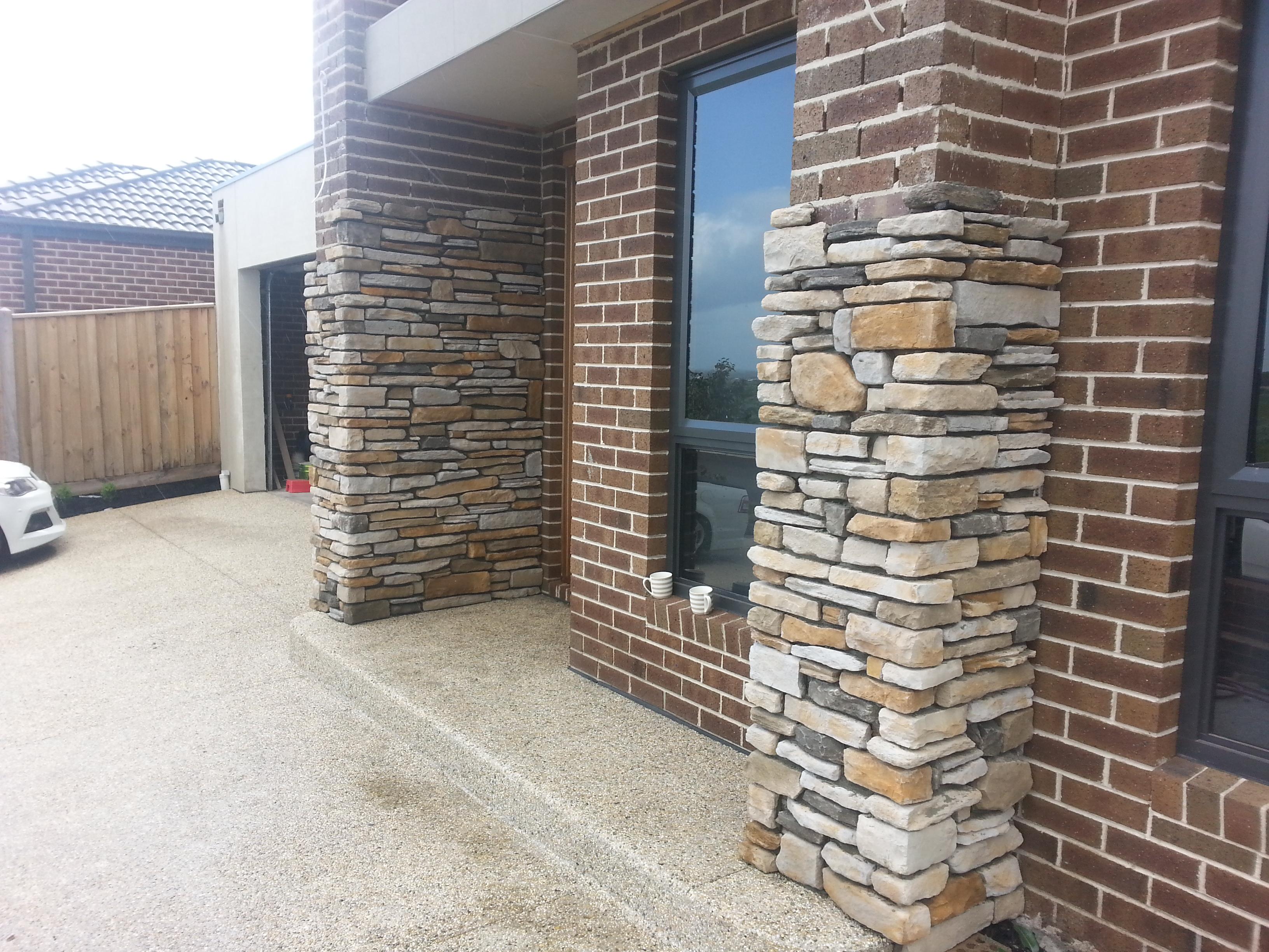 Southern ledgestone Aspen install