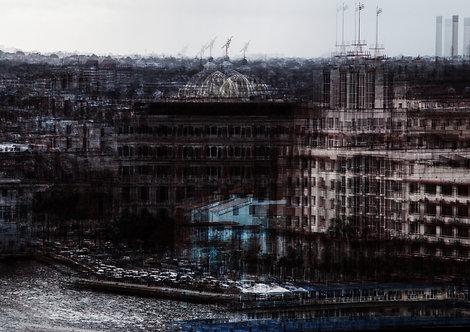 O amanhecer da velha cidade   Abstrato   lugares   Arte moderna