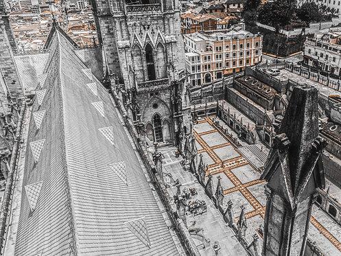 La Catedral de Quito - Uma vista de cima