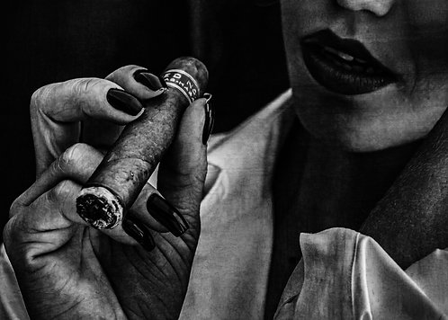 Cigar Time | Fine Art Nude Print | Nude Wall