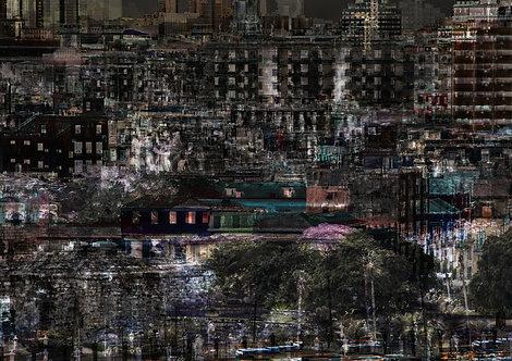 A cidade abandonada | Abstrato | lugares | Arte moderna