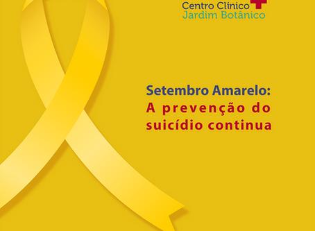 Setembro Amarelo: A prevenção do suicídio continua