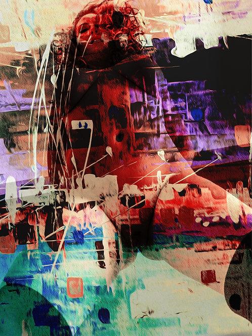 Powerful girl | Abstrato | Arte moderna