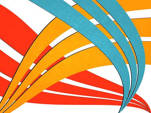 Happy lines | Abstrato | Arte moderna