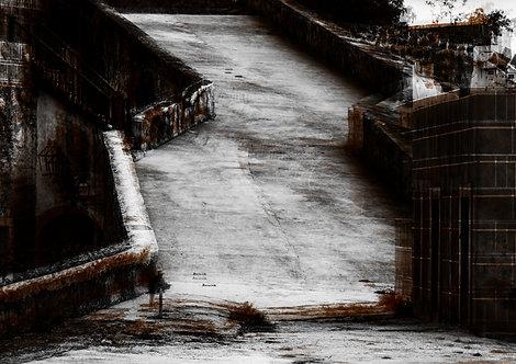 Reflexos da velha cidade | Abstrato | lugares | Arte moderna