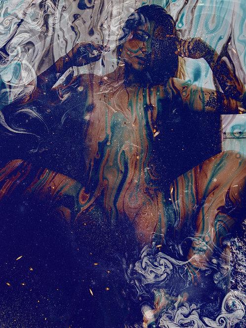 Pensamentos abstratos na solidão | Abstrato | Arte moderna
