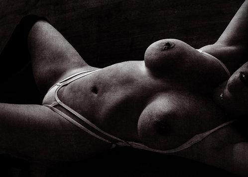 Shadows of Sin   Fine Art Nude Print   Nude Wall Art