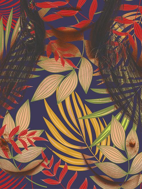 Flowers and female beauty #1 | Abstrato | Arte moderna