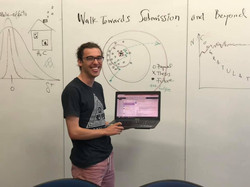 Nick submitting his Honours thesis!