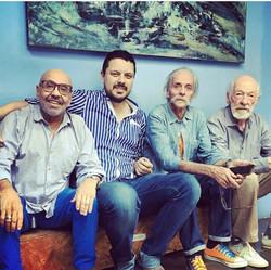 Jorge (papá) y otros artistas amigos