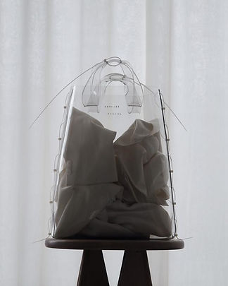 ZIP TIED TOTE, CLEAR