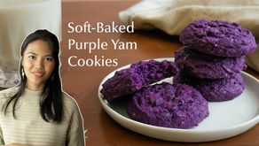 BEST Ube Cookies Recipe | Soft Baked With Coconut and Without Ube Jam!