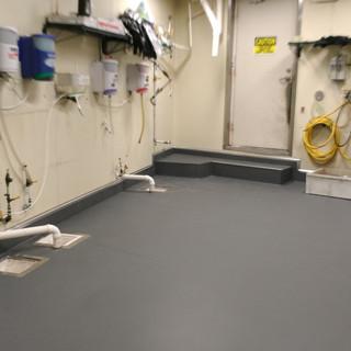 Green Sage Kitchen Floor System