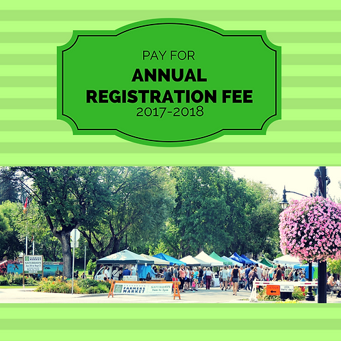 Annual Vendor Registration Fee 2017/2018