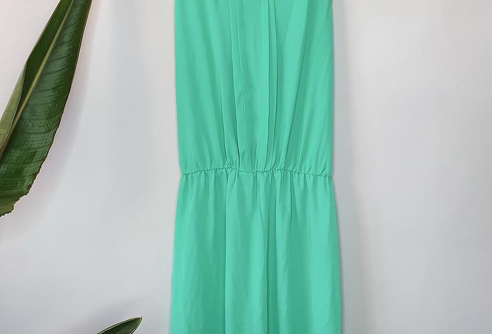 Daniel Rainn Green Sleeveless Chiffon Dress S