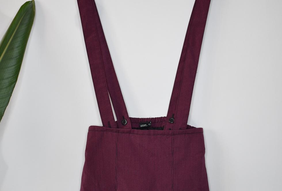 Forever 21 Pleated Suspender Skirt XS