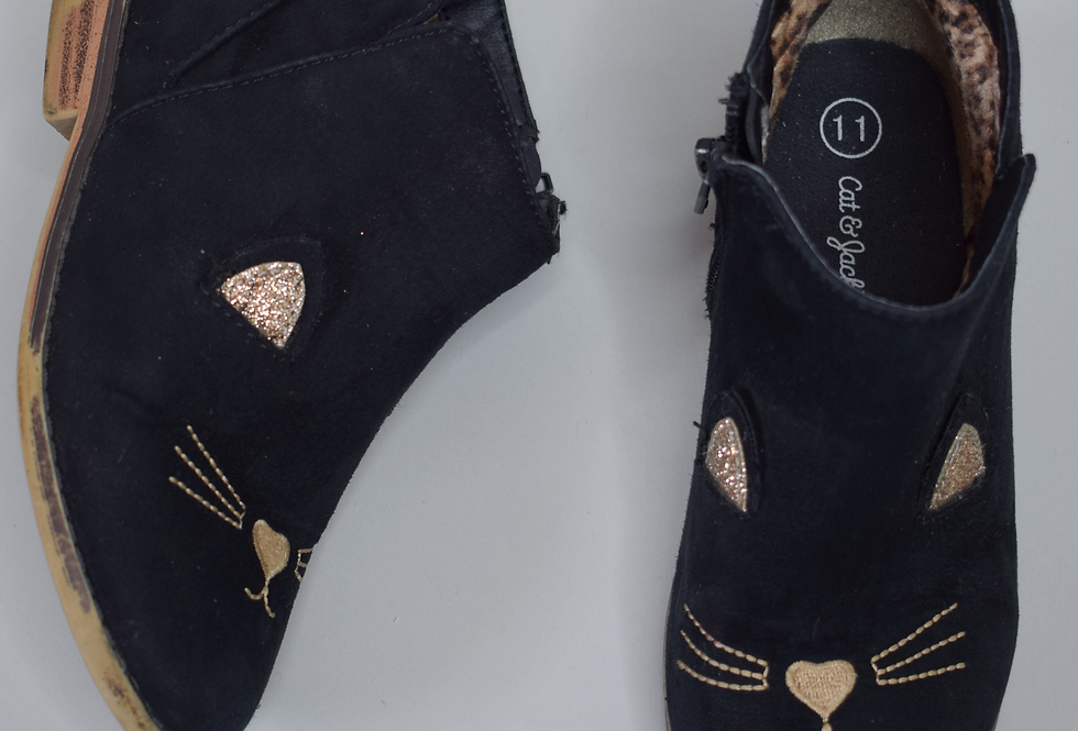 Cat & Jack Suede Kitty Ankle Boots 11