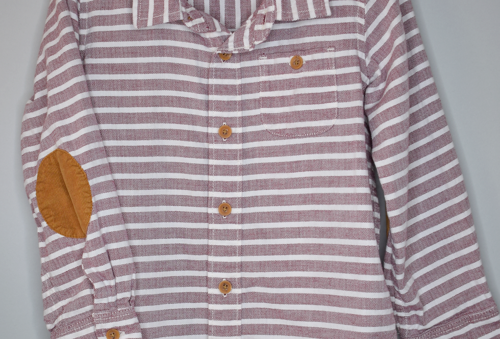 Old Navy Striped Button Up Shirt 5T