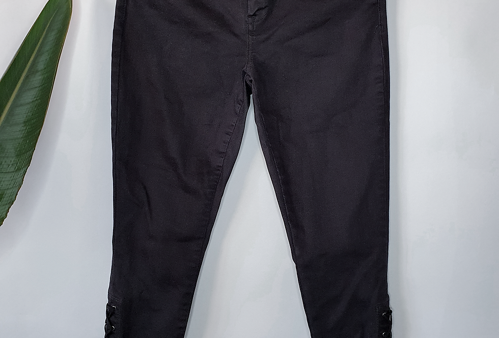 BlankNYC Intro Black Lace up Jeans 28