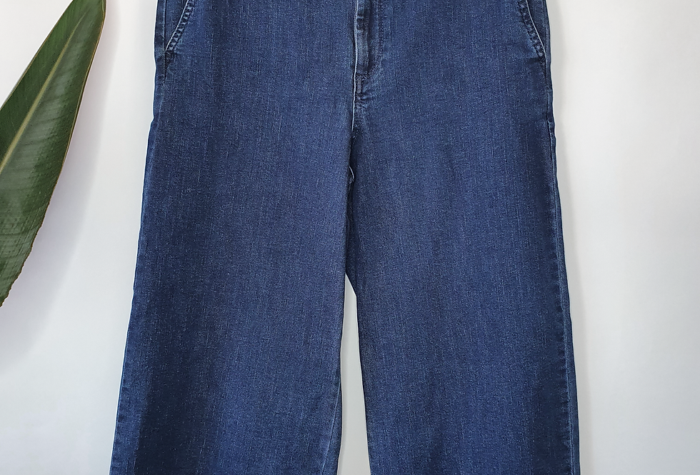 a new day Wide Leg Culotte Blue Jeans 8