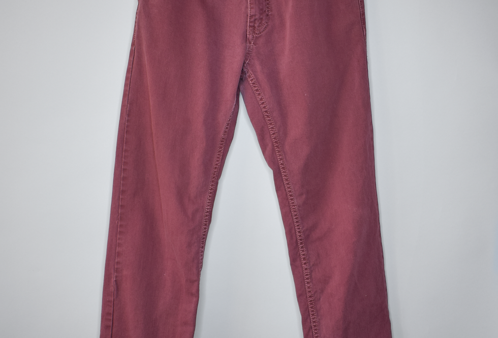 Pull & Bear Burgundy Straight Leg Jeans S