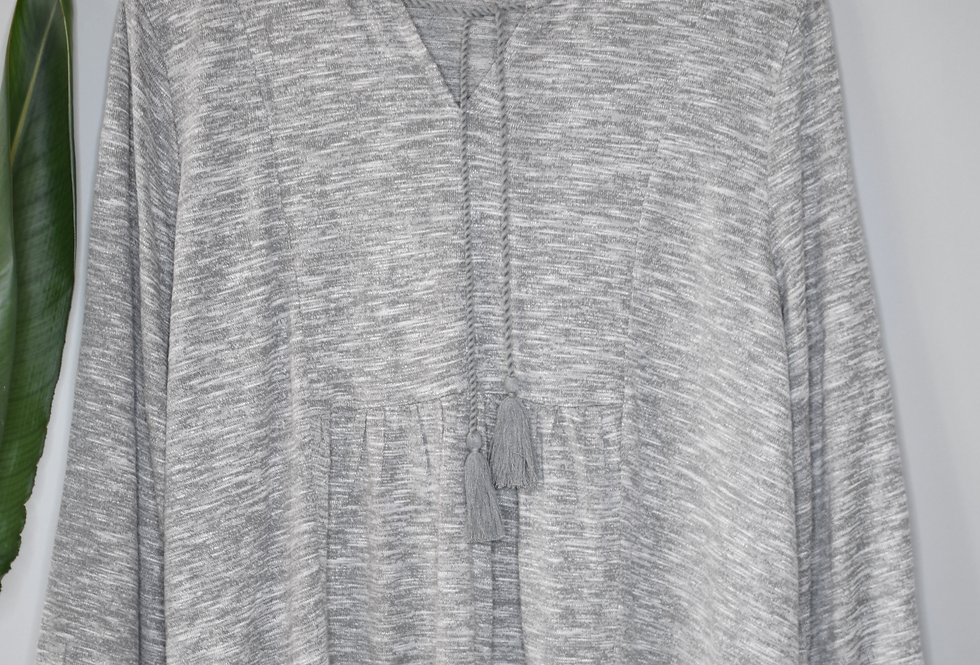 Style & Co Heather Gray Knit Top XL