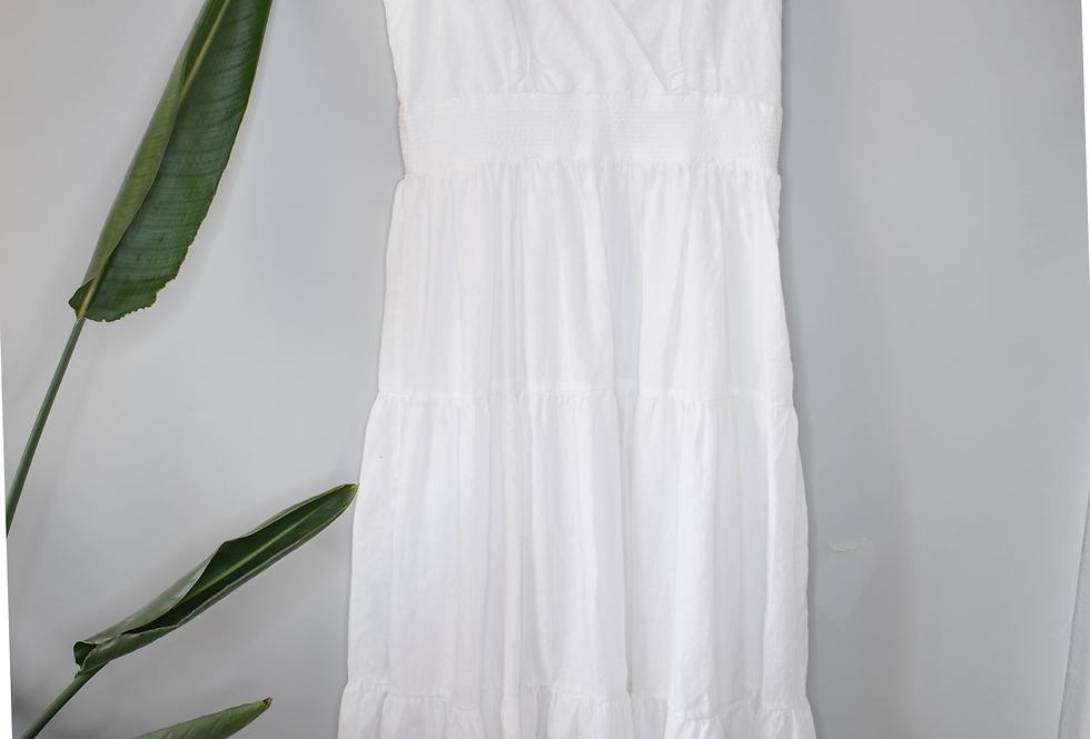 Chico's Tiered Linen Blend Dress M