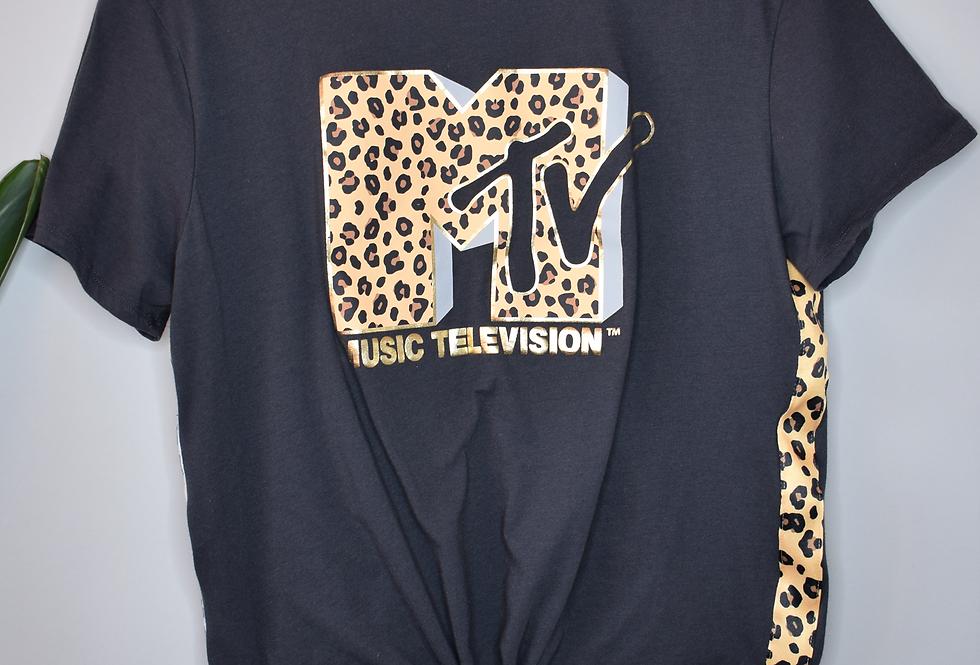 MTV Front Tie Tee XL