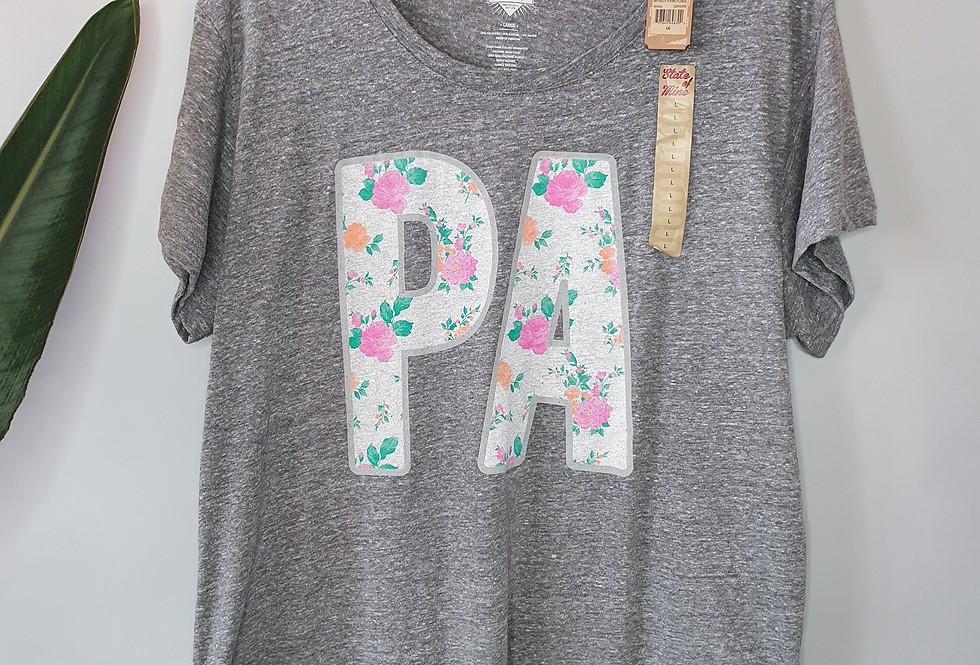 State of Mine Gray Heather T-Shirt L