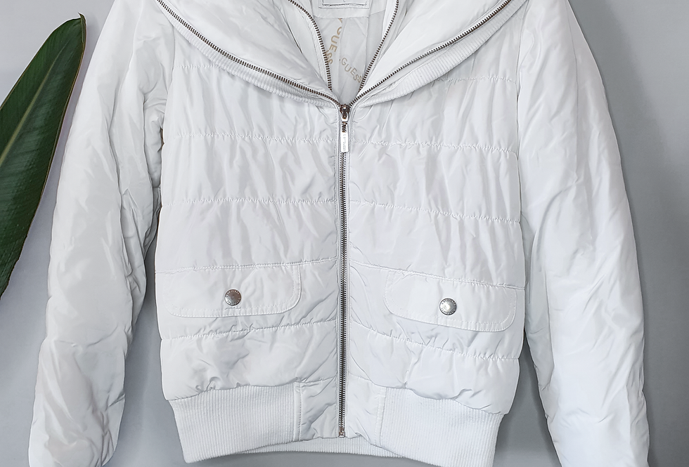 G by Guess White Puffer Jacket L