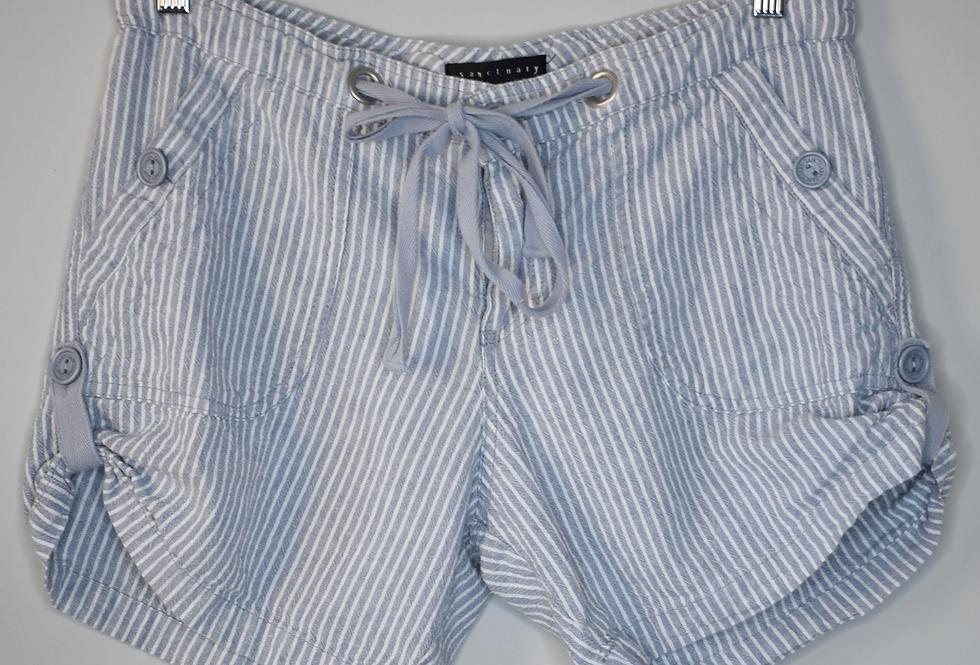 Sanctuary Seersucker Linen Blend Shorts 31