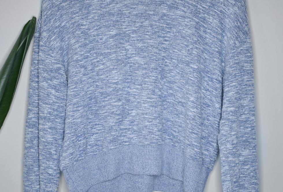 Colsie Heather Blue Knit Top M