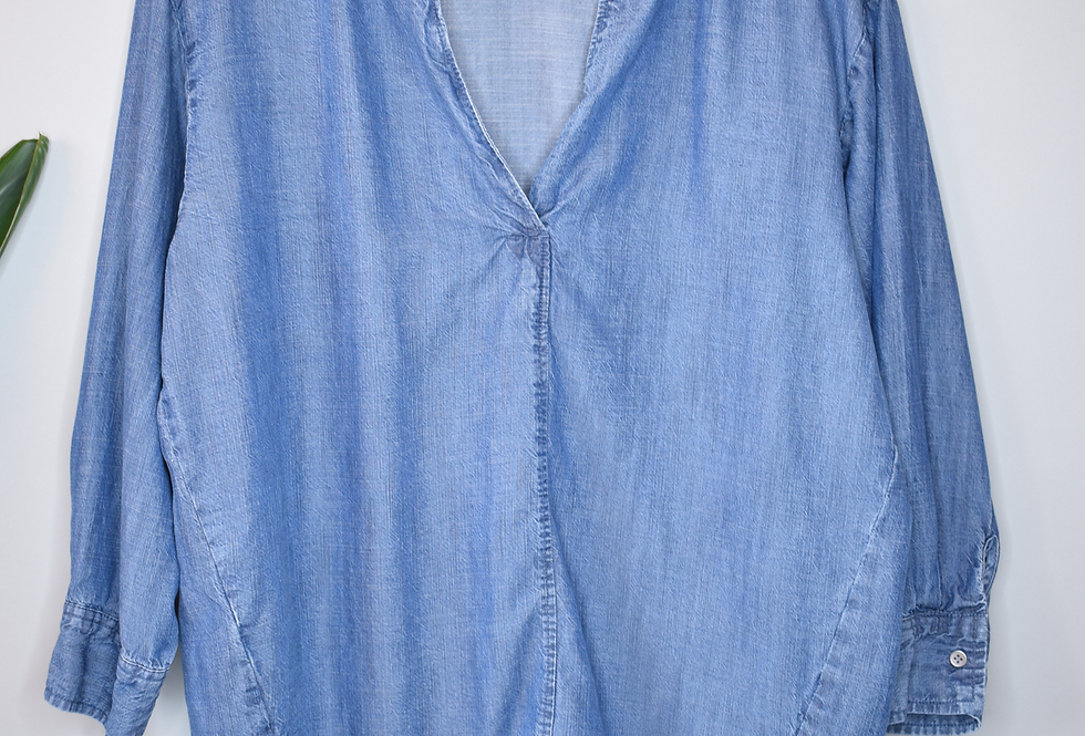 LOFT Outlet Lounge Chambray Popover Top S