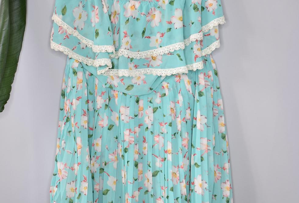 IT Girl Pleated Strapless Dress L