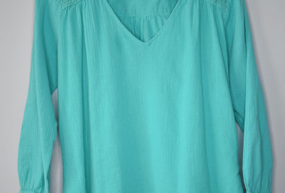 Gap Green Cotton Blouse S