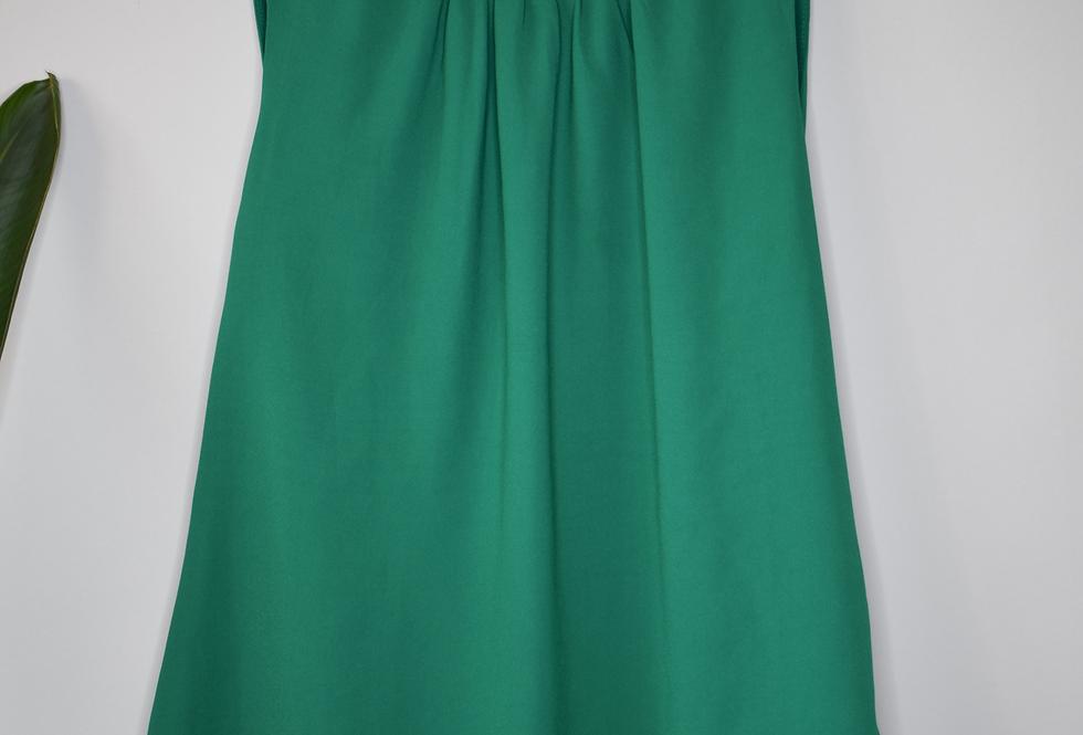 Rose & Olive Green Sleeveless Blouse M/L